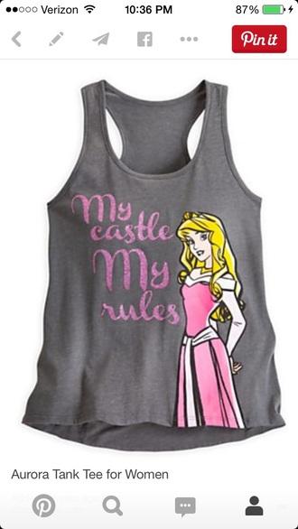 shirt t-shirt tank top disney princess