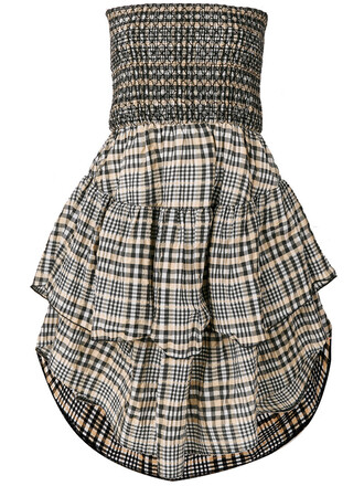 dress women plaid cotton black