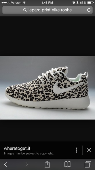 shoes leapord print nike roshe run