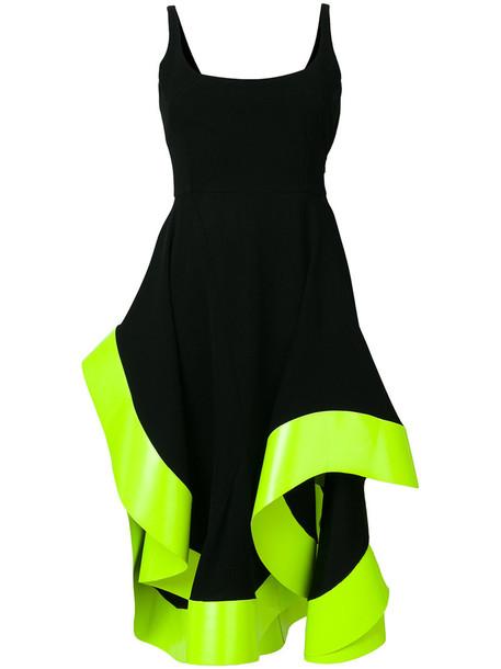 Esteban Cortazar dress midi dress back open flowy open back women midi spandex black
