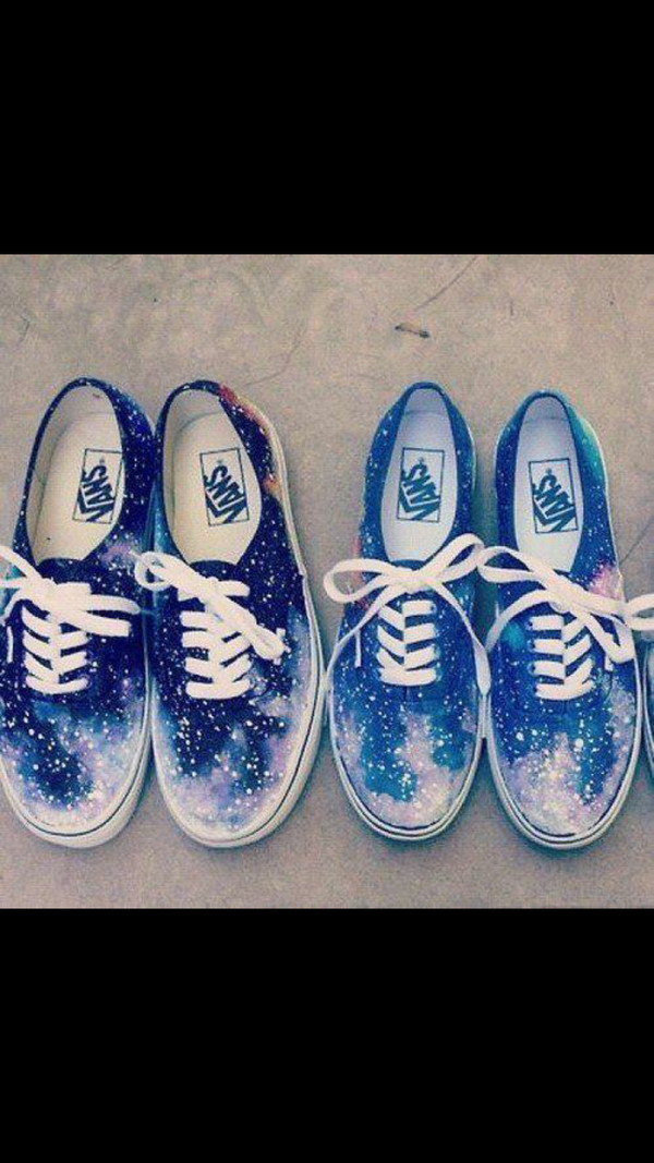 shoes galaxy print