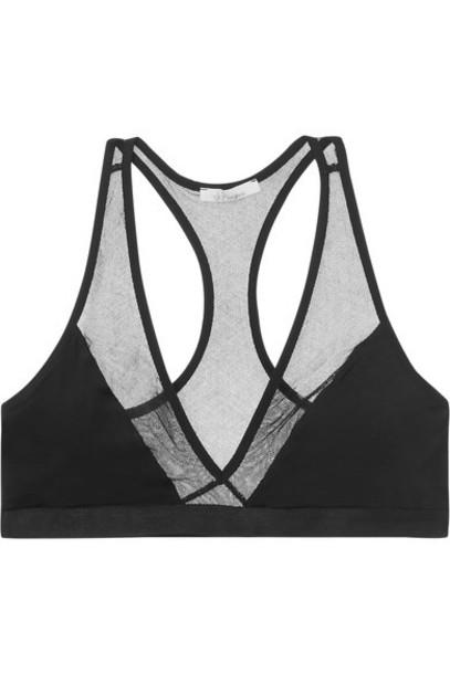 Skin bra triangle soft cotton black underwear