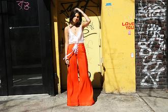 le fashion image blogger tank top pants