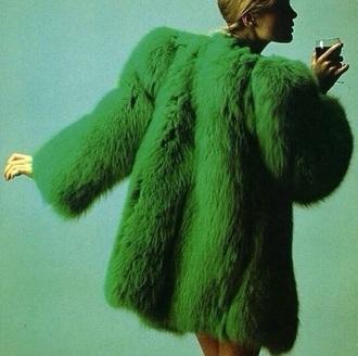 coat saint laurent fur coat