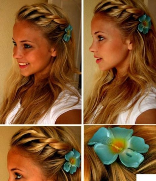 hat hibiscus hair flowers clip hair clip hair accessory