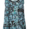 Kenzo snakeskin slogan print tank top, women's, size: 34, blue, viscose