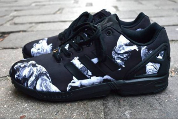 574dbb6a shoes adidas adidas shoes adidas zx flux zx flux addidas zxflux black and  white sneakers shoes