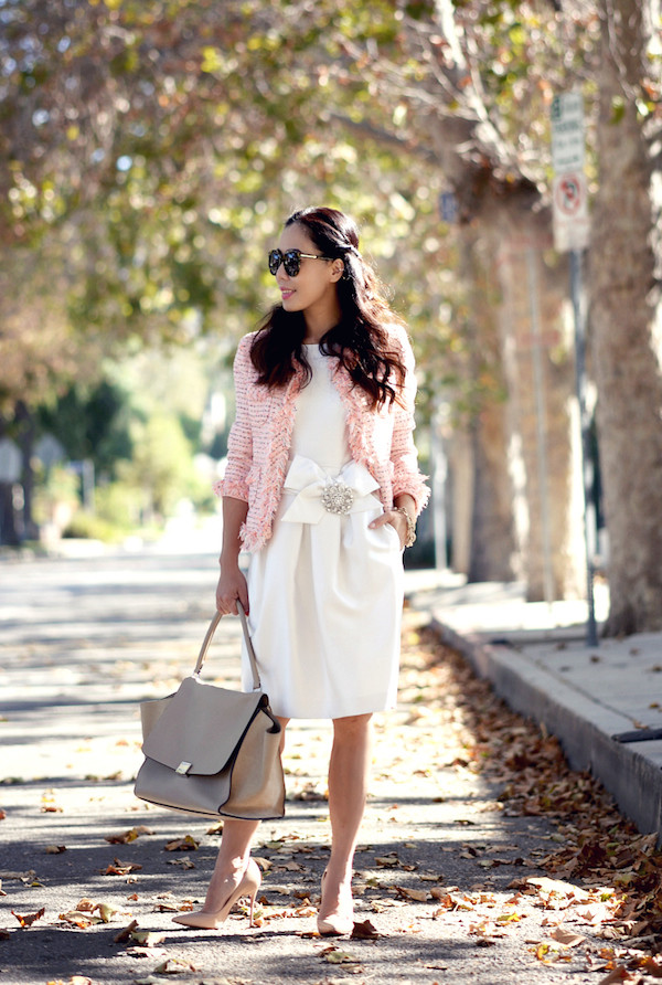 hallie daily blogger jacket bag jewels sunglasses