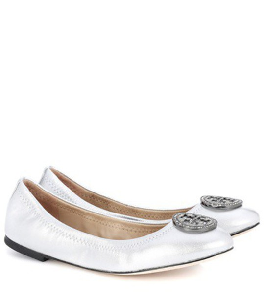 Tory Burch shoes leather silver