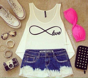 t-shirt,shirt,shorts,converse,pink bra,jewelry,sunglasses,leopard print,party,short,Nelly,top,dance,clubwear,summef,underwear,shoes,white tank top,bandeau,High waisted shorts,high waisted denim shorts,tank top,infinitiy scarf,hot pan,hot pans,cute,pink,swimwear,jeans,denim shorts,blue shorts,white shorts,cool shorts,infinity,infinity love,ombre