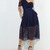 Navy One Shoulder Lace Dress Puffy Skirt on Storenvy