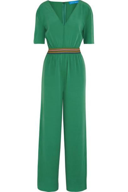 51af1afedcc M.i.h Jeans - Silk Crepe De Chine Jumpsuit - Jade - Wheretoget