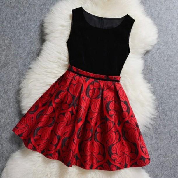 dress red dress black dress