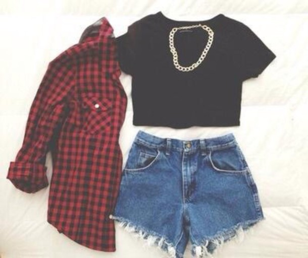 shirt red and black flannel shirt