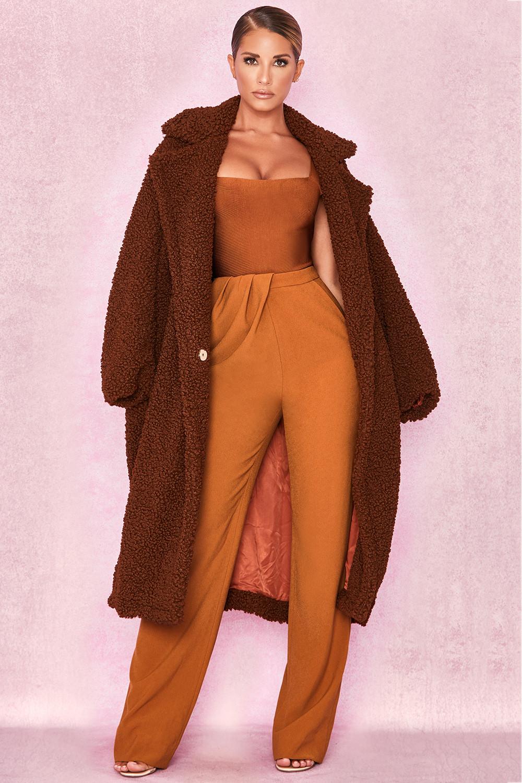 Clothing : Jackets : 'Bear' Brown Faux Fur Sherpa Coat