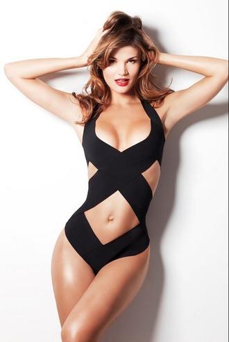 swimwear swimsuit one piece black hot hot swimsuit bandage swimwear bandage swimsuit one piece swimsuit black swimwear celebrity swimsuit