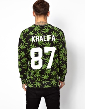 Eleven paris x les artists sweatshirt with khalifa back print at asos