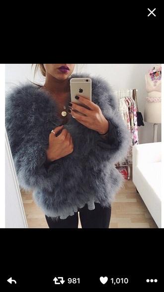 coat faux fur fur coat turquoise fashion madeinchelsea winter coat