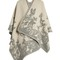 Moth-jacquard wool and cashmere-blend cape