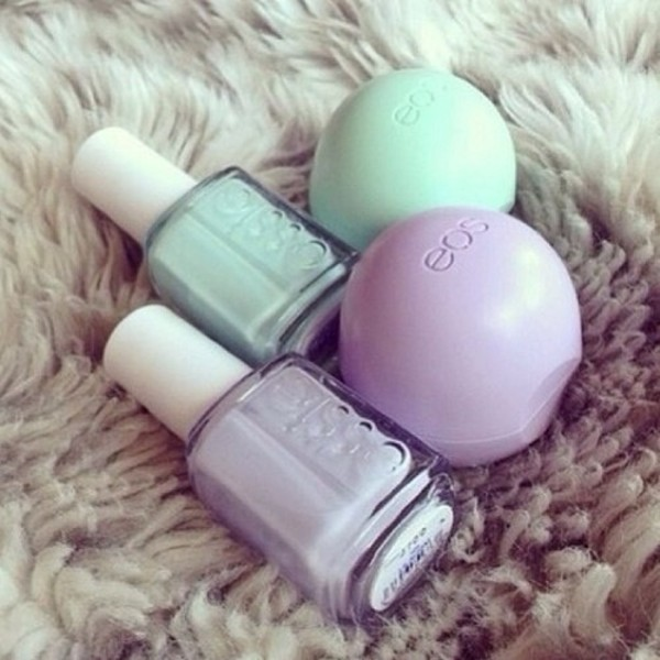 nail polish essie eos lip balm waikiki make-up