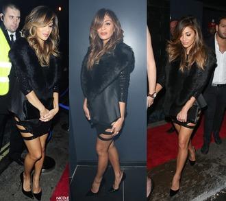 little black dress dress sequin dress sequins nicole scherzinger prom dress party outfits party dress mini dress short dress
