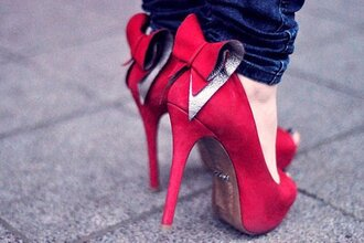 Bow Red High Heels - Shop for Bow Red High Heels on Wheretoget