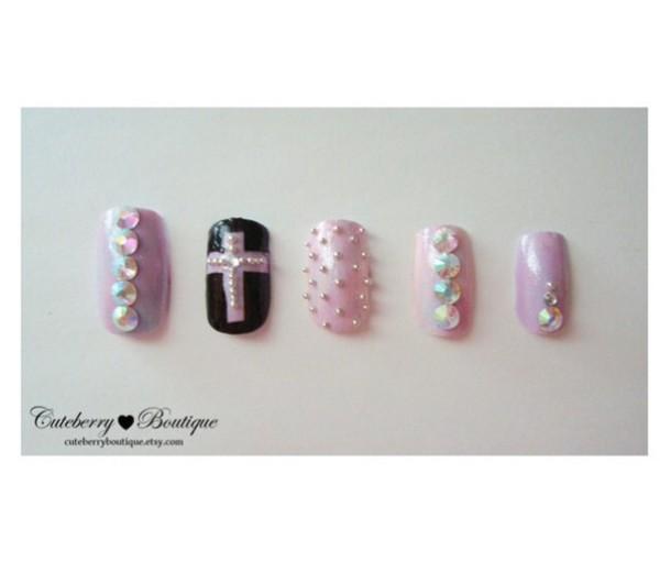 nail accessories pastel purple nail art