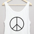 Peace Cropped Tank £12.99   Free UK Delivery - #TeeIsland