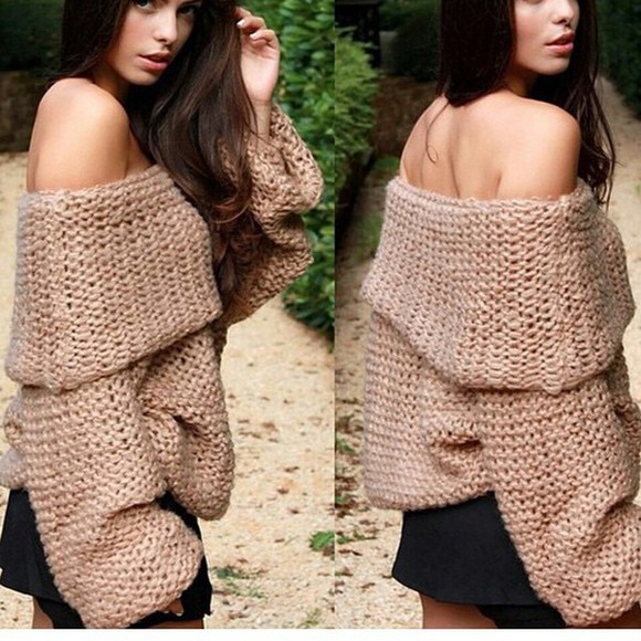 sweater winter sweater oversized sweater wool cold shoulders winter outfits