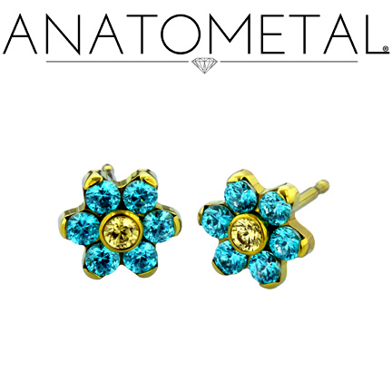 - Flower Earrings - ANATOMETAL - Professional Grade Body Piercing Jewelry