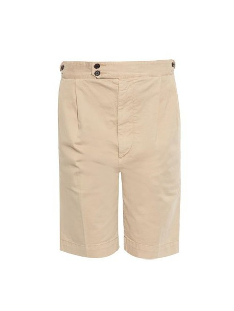 JOSEPH Dean relaxed-fit chino shorts in beige / beige