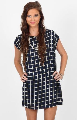 dress patterned short sleeve black white dress patterned dress shift dress checkered