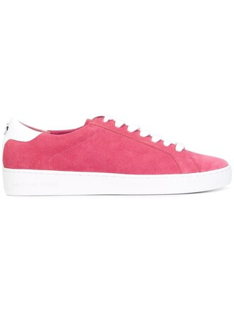 women sneakers leather cotton suede purple pink shoes