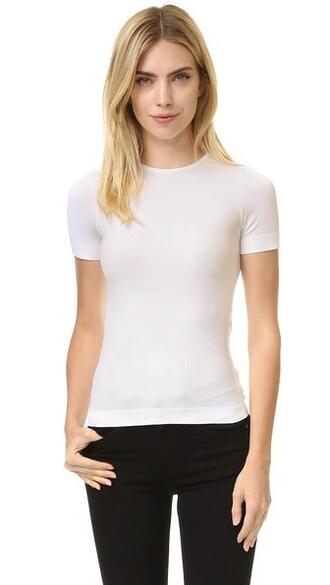 shirt short white top