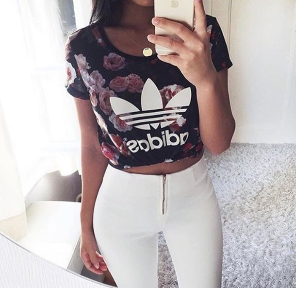 t-shirt pants white skinny pants leggings jeans adidas top shorts girly make-up style fashion toast shirt clothes