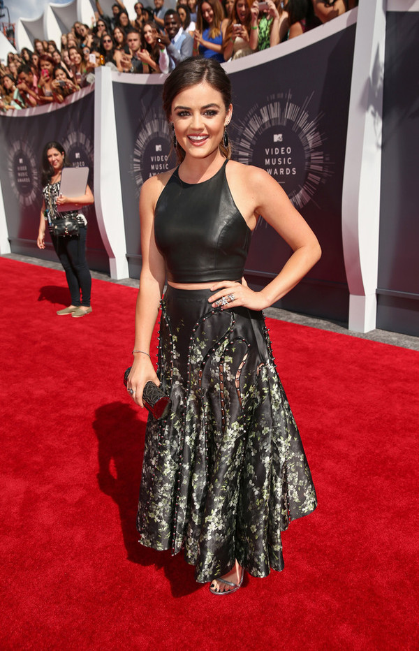 top skirt sandals lucy hale mtv shoes vma