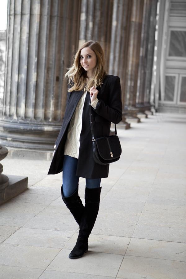 fashion mugging coat sweater pants shoes bag
