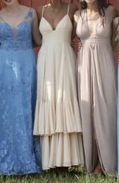 dress,layered dress,nude dress