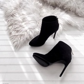 shoes,black,zip,boot,heels,high heels