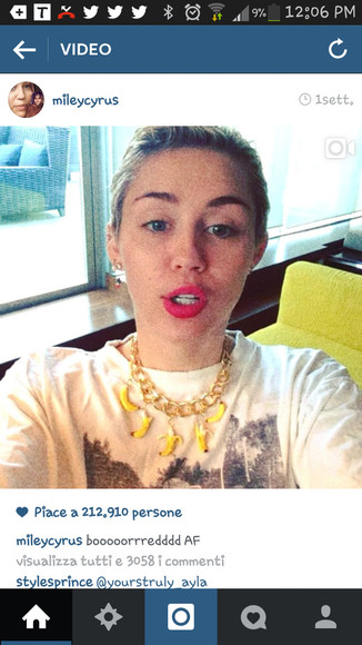 yellow jewels necklace jewels miley cyrus banana