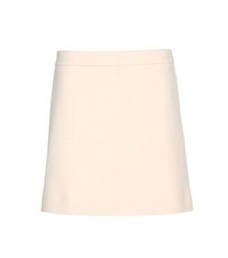 miniskirt wool skirt
