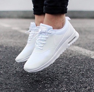 shoes sneakers nike running shoes nike sneakers nike air nike thea nike air thea white white shoes white sneakers