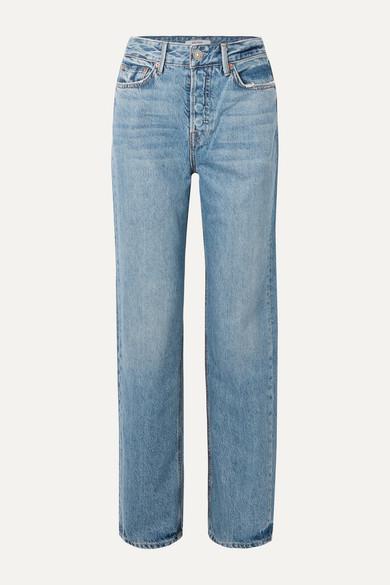 GRLFRND - Mica high-rise straight-leg jeans