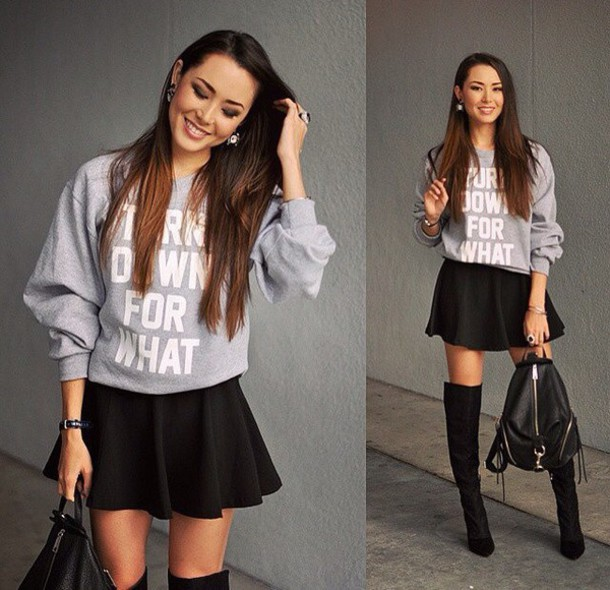 sweater grey sweater fashion style streetwear