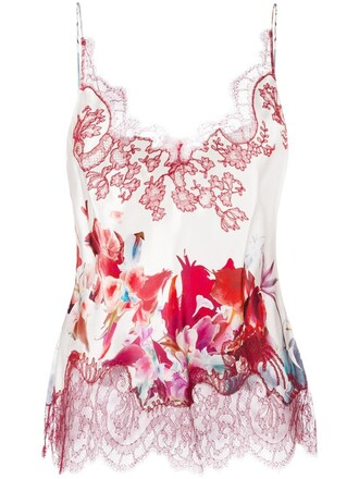 camisole women floral nude print silk underwear