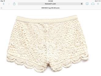 shorts lace ivory