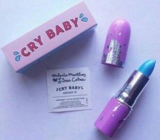 make-up lime crime lipstick lip gloss blue melanie martinez cry baby crybaby brands