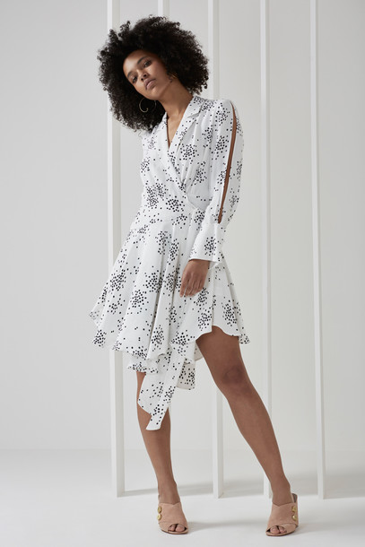 C/MEO COLLECTIVE dress long sleeve dress long print
