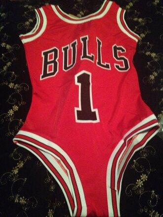 swimwear basketball bodysuit chicago bulls