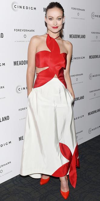 dress olivia wilde maxi dress gown asymmetrical dress